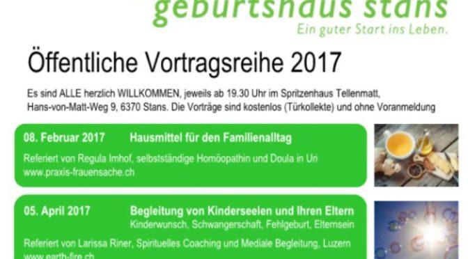 Geburtshaus Stans Vortragsreihe 2017